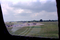Tstc Waco Airport (CNW) - View out the window of the B-17 Chuckie upon landing at the 1987 Waco Airshow - by Zane Adams
