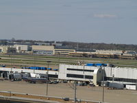 Lambert-st Louis International Airport (STL) - CENTRAL AREA HANGERS AT KSTL - by Gary Schenaman