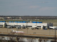 Lambert-st Louis International Airport (STL) - TERMINALS AND HANGER AREA AT KSTL - by Gary Schenaman
