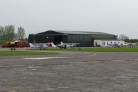 Sandtoft Airfield Airport, Scunthorpe, England United Kingdom (EGCF) - Main Hangar at Sandtoft - by Terry Fletcher