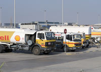 Barcelona International Airport, Barcelona Spain (LEBL) - Fuel truck´s fleet on LEBL. - by Jorge Molina