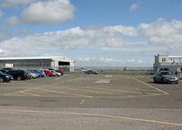 London Ashford Airport - Main Hangar from the main visitors carpark. - by Martin Browne
