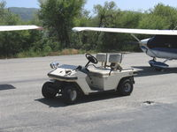 Santa Paula Airport (SZP) - Typical airport cart, but 'soundly' equipped! - by Doug Robertson