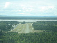 Delta Junction Airport (D66) - Final approach to Delta Junction (D66) - by Mike Wallette