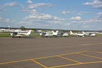 L O Simenstad Municipal Airport (OEO) - Visitors for an FAA Safety Seminar - by Timothy Aanerud