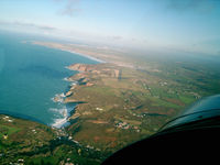 Perranporth Airfield - Final approach to Perranporth runway 05. - by captainflynn
