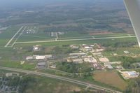 Warsaw Municipal Airport (ASW) - Looking north from 2500' - by Bob Simmermon