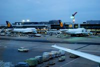 Frankfurt International Airport, Frankfurt am Main Germany (FRA) - 2 Lufthansa Boeing 747-400 (D-ABTA and D-ABVB) - by Hannes Tenkrat