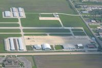 Lansing Municipal Airport (IGQ) - Looking south from 5000' - by Bob Simmermon