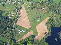 Cackleberry Airport (2E8) - Early AM from 4500' - by Bob Simmermon