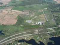 Clare Municipal Airport (48D) - View from 4500' - by Bob Simmermon