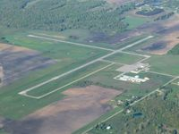 Gratiot Community Airport (AMN) - Looking SW from 4500' - by Bob Simmermon
