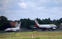 Tegel International Airport (closing in 2011), Berlin Germany (EDDT) - One for Nuremburg and one for Saarbrucken - by Holger Zengler