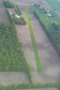 Erdy Farm Airport (1OA8) - Looking NW from 2500' - by Bob Simmermon