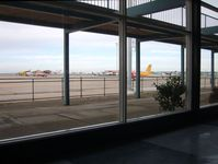 Essendon Airport - Aircraft ramp - pre 1960's this would have been filled with 727's, DC9's, etc. Note: The viewing concourse overhead is now off-limits. - by red750