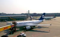 Tegel International Airport (closing in 2011), Berlin Germany (EDDT) - View over an italo-mongolian meeting at the western gates of TXL - by Holger Zengler