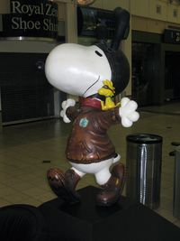 Minneapolis-st Paul Intl/wold-chamberlain Airport (MSP) - Snoopy in the Lindberg main terminal. - by Timothy Aanerud