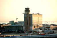 Vancouver International Airport, Vancouver, British Columbia Canada (YVR) - sunset at YVR - by metricbolt