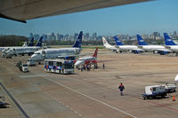 Jorge Newbery Airport - Lots of B 737-200s - a spotter's delight! - by Micha Lueck