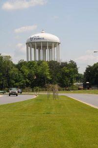 Joint Base Andrews Airport (ADW) - AAFB water tower - by J.G. Handelman
