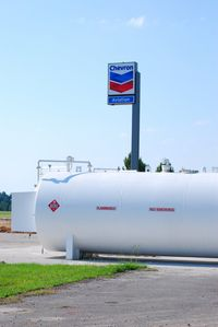 Chester Catawba Regional Airport (DCM) - New fuel tanks - by Connor Shepard