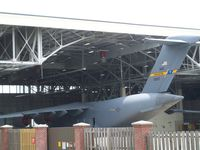 Charleston Afb/intl Airport (CHS) - C-17 in hangar - by rupert2829