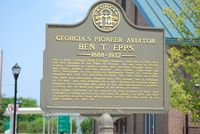 Athens/ben Epps Airport (AHN) - Plaque in memory of Ben Epps - by Connor Shepard