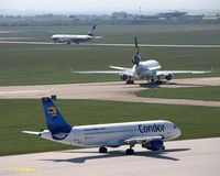 Leipzig/Halle Airport, Leipzig/Halle Germany (EDDP) - Busy Spring afternoon - by Holger Zengler