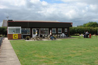 Beverley/Linley Hill Airfield - Club House and Barbacue for the Fly-In - by Terry Fletcher
