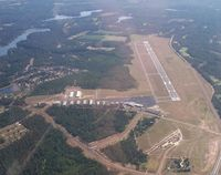 Moore County Airport (SOP) - Moore County Airport from the south - by Jon Raines