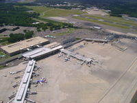 Bradley International Airport (BDL) - Bradley Airport from 1700 feet - by Cohen