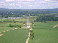 Northampton Airport (7B2) - A little high on final for runway 32 at Northampton Airport - by Cohen