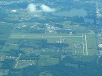 Warsaw Municipal Airport (ASW) - Looking south from 10000' - by Bob Simmermon