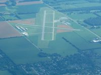 La Porte Municipal Airport (PPO) - Looking south from 10000' - by Bob Simmermon