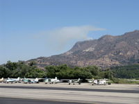 Santa Paula Airport (SZP) - Photo 4. South Mountain new fire just noted. Fire Department called. - by Doug Robertson