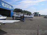 Hilversum Airport, Hilversum Netherlands (EHHV) - Hilversum Aerodrome hangar Flying school - by Henk Geerlings
