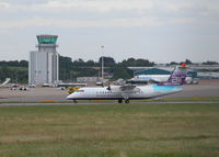 Bristol International Airport - BRISTOL INTERNATIONAL TERMINAL AND TOWER WITH AIR SOUTHWEST DHC DASH 8 - by BIKE PILOT