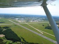 Mansfield Lahm Regional Airport (MFD) - Looking east climbing out - by Bob Simmermon