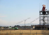 Stockton Metropolitan Airport (SCK) - Radar & comm antenea, Altamont fire in distance - by phredshome