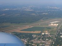 Anderson Muni-darlington Field Airport (AID) - Looking west from 2500' - by Bob Simmermon