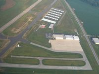 Anderson Muni-darlington Field Airport (AID) - View of the ramp and facilities - by Bob Simmermon