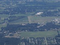 Napoleon Airport (3NP) - Looking east from about 10 miles - by Bob Simmermon