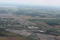 Findlay Airport (FDY) - Looking east - by Bob Simmermon