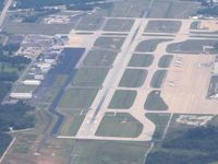 Toledo Express Airport (TOL) - Looking NE from 5500' - by Bob Simmermon