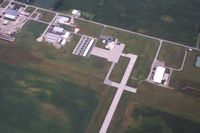 Fulton County Airport (USE) - View of the ramp and facilities from 4500' - by Bob Simmermon