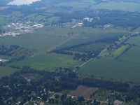 Napoleon Airport (3NP) - Looking west from 3500' - by Bob Simmermon