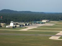 Muskegon County Airport (MKG) - View of the ramp and facilities - by Bob Simmermon
