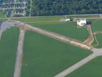 Smith Field Airport (SMD) - Construction work - looking south - by Bob Simmermon