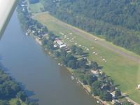 Riverside Airport (OH36) - Above view of the EAA fly-in breakfast and Young Eagles event. - by Bob Simmermon