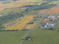 NONE Airport - Looking north at an uncharted farm strip south of Lakeview, Ohio at SR 235 & 274. - by Bob Simmermon